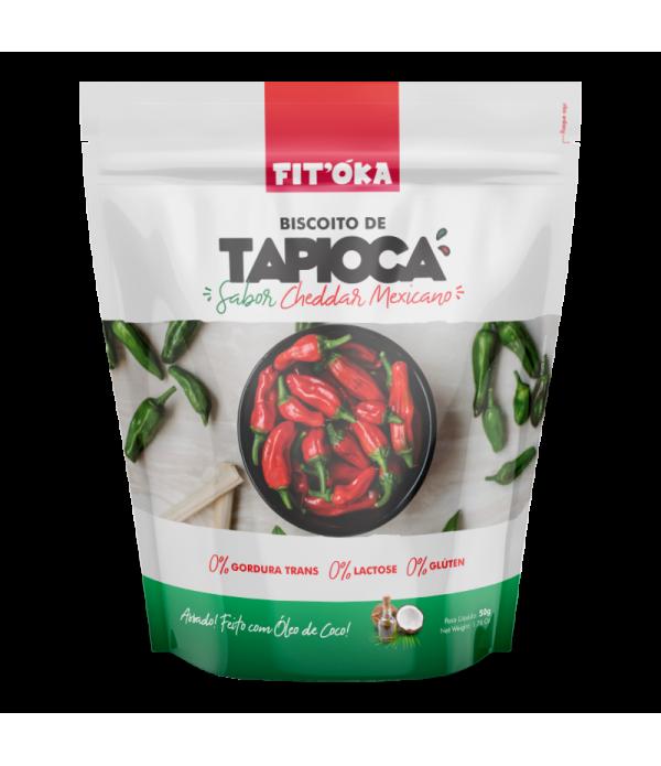 Biscoito de Tapioca - Sabor Cheddar Mexicano 50g